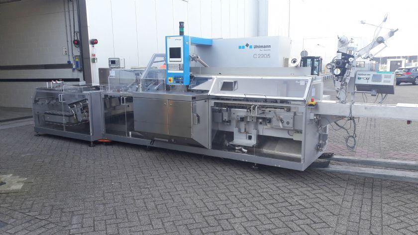 Uhlmann Linea blister Uhlmann UPS 1030 MTK con astucciatrice C2205